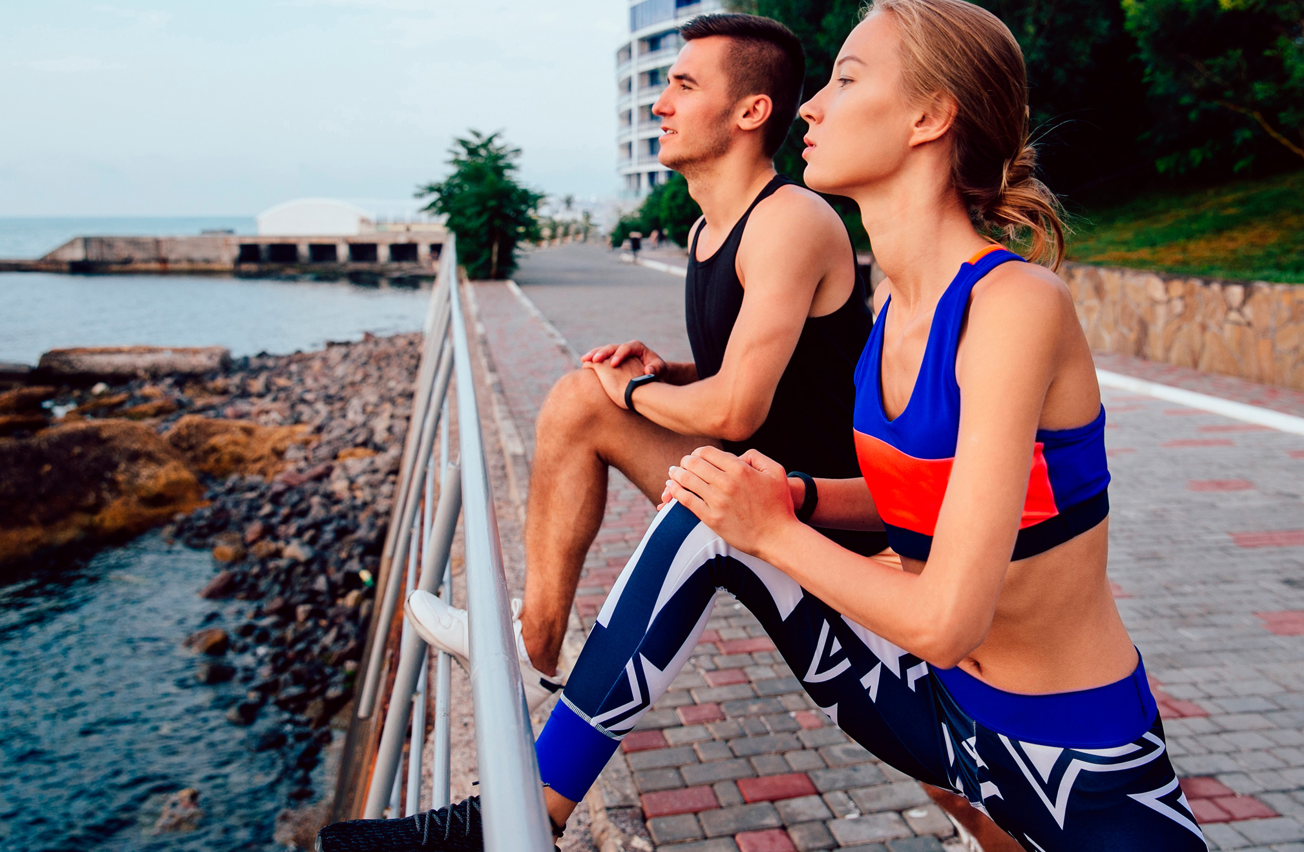 Bayshore Villas-Apartments-Couple exercising-San Juan, PR