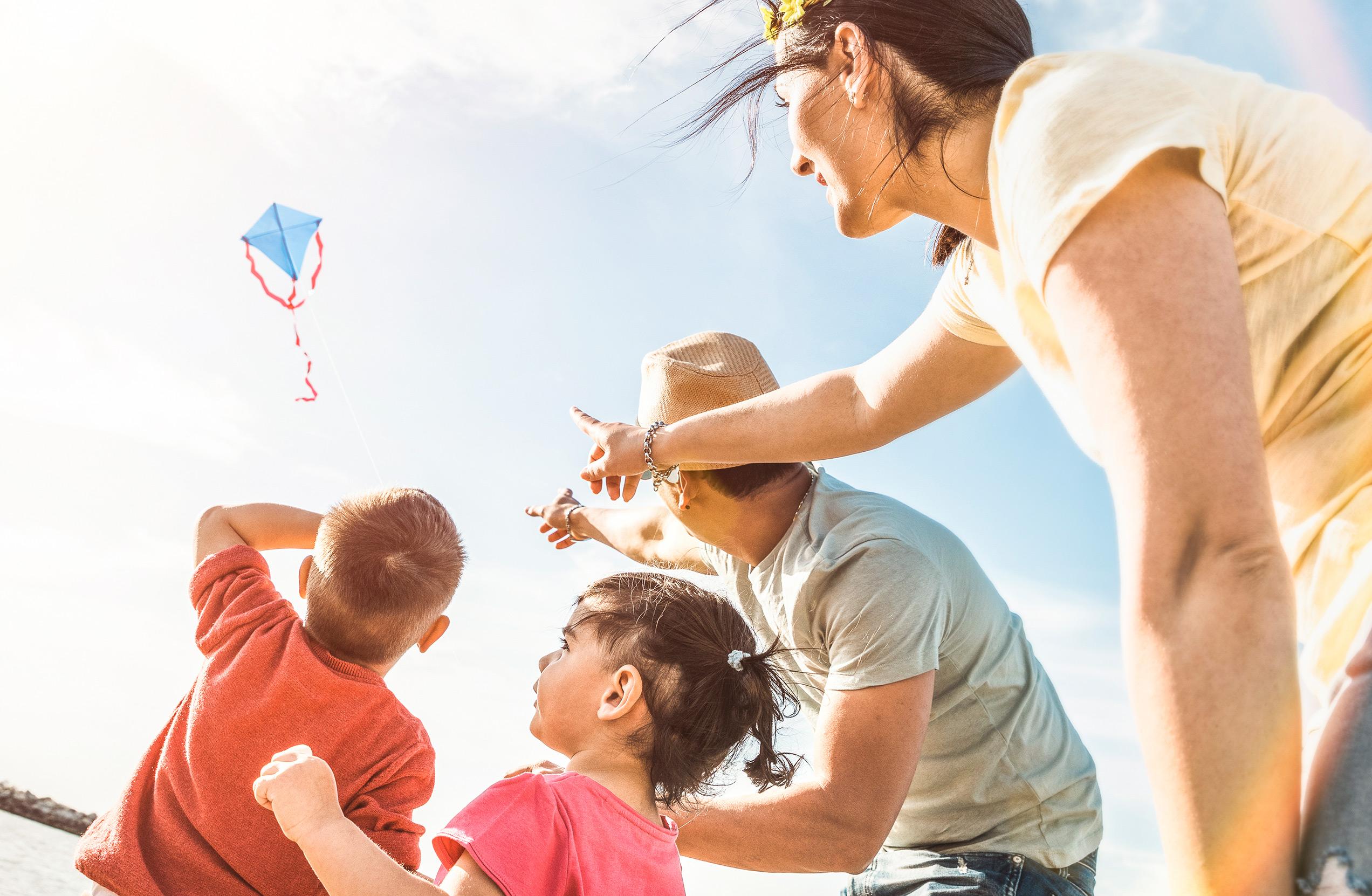 Bayshore Villas-Apartments-Family flying kite-San Juan, PR